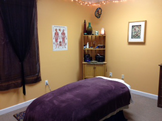 Treatment room for massage therapy