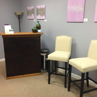reception area local art Metamorphic Massage for Women